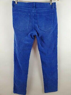 """Lands' End Women's Corduroy Pants Size 32"""" Pin Straight Canvas Cobalt Blue Rare 2"""