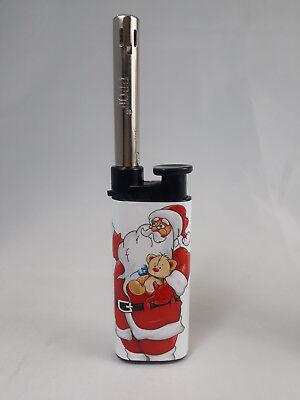 Accendino Benzina Ricaricabile Antivento   Babbo Natale lista dei regali cometa