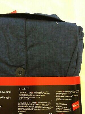 NWT Men's Hanes Woven Pant Shirt Set Pajamas PJ Cotton Blend Blue Stripe Various 6