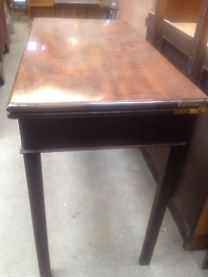 Georgian Mahogany Fold Over Tea Table Breakfast Dining Card Hall Desk Side 4