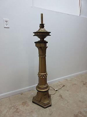 Antique Victorian Masonic Mason Taper Pole Lamp Light Lighting 2