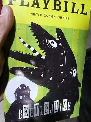 BEETLEJUICE Playbill HALLOWEEN OCTOBER Musical NEW YORK BROADWAY ALEX BRIGHTMAN 2
