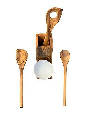 Kochlöffel Set Küchenhelfer  Küchenzubehör Keramik Olivenholz Küchenset 5tlg