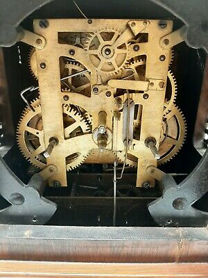 Antique 5 Coil Gong Westminster Chime Mantel Clock 1896 New Haven 3