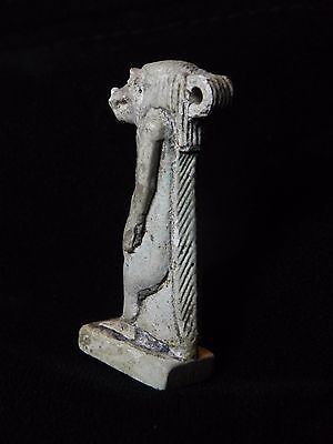 Zurqieh -Q5- Ancient Egypt. Large Faience Amulet Of Tawaret. 600 B.c 4