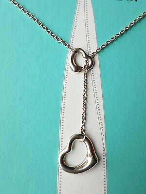 Authentic Tiffany & Co Elsa Peretti Open Heart Lariat Necklace 2