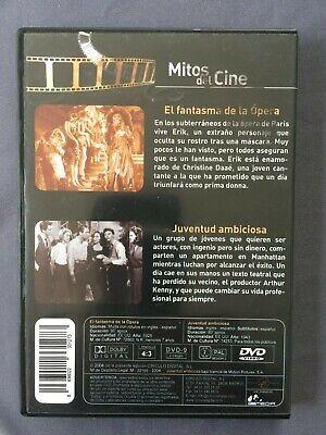 DVD EL FANTASMA DE LA OPERA + JUVENTUD AMBICIOSA Mitos del Cine Susan Hayward 2