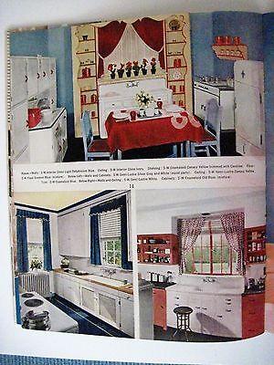 "Vintage 1939 Booklet ""Home Decorator & Color Guide by Rockwell Kent (Artist) * 10"