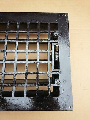 Vintage VICTORIAN Cast Iron Floor Grille 11+x10 Heat Grate Register + Louvers 3