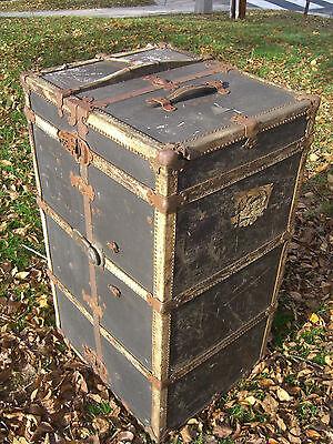 Steam Punk, Mendel & Co. Wardrobe Steamer Trunk, Yale Lock & drawers c. 1900 3
