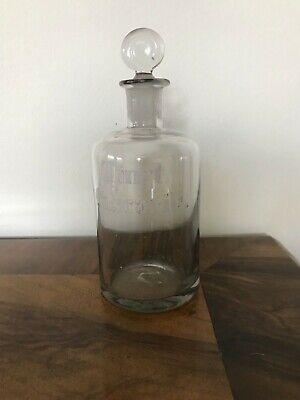 Antike Apotheker Flasche,Mundgeblasen ,Abriss ,eingeschliffener Stöpsel ,Passgen 3