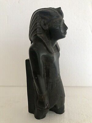 ANCIENT EGYPTIAN ANTIQUE Bronze Pharoh Signed Adele 9