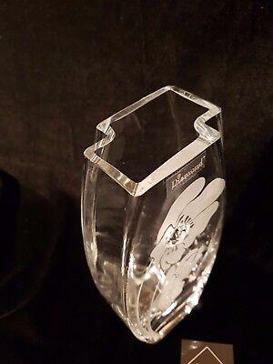 Swarovski Crystal /& Sandblasted Gift present glass vase Valentine/'s Day