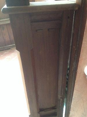 Victorian Church Neo Gothic Pew chapel settle bench Elders Seat TallSlimBookcase 3