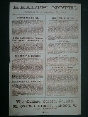 Victorian Electropathic Belts Leaflet ******(See Description For Details)****** 10