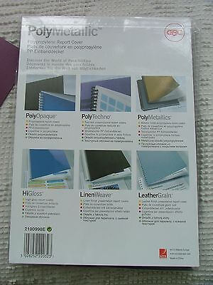 Claret Binding Covers Pack of 50 A4 2100998 450 gsm Report Poly Metallic GBC