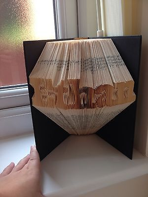 SALE LIMITED TIME Folded Book Art ANY NAME OR WORD Personalised