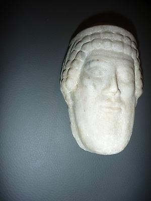 A Roman / Greek   Marble Head Of Hermes ? Propylaios  ??  Circa 1St Century B.c. 4