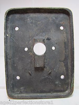 Old EMERGENCY RELEASE No 4 Mount Plate architectural button switch bronze brass 6