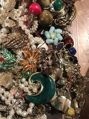 Jewelry Vintage-Modern Huge  Lot Craft, Junk, Wearable, Box 3 FULL POUNDS 9