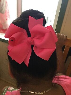 "LOT OF 20 Girl's 5"" Inch HAIRBOWS Hair Bows  -Handmade random Colors"