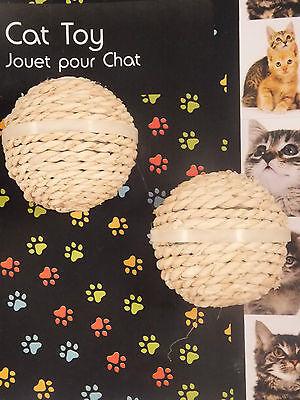 2 x SISAL CAT TOYS CHOOSE MICE OR BALLS OR BOTH !!  CTO 25 2