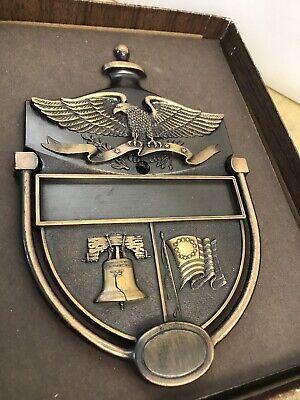 Vintage Door Knocker Metal Patriotic American Eagle Liberty Bell Colonial Flag M 3
