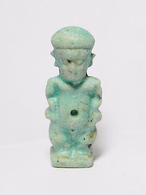 Zurqieh -Q219- Ancient Egypt , Stunning Faience Pataikos Amulet . 1075 - 600 B.c 4 • CAD $315.00