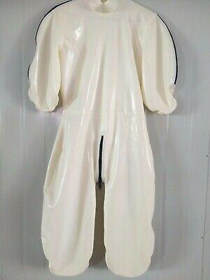 GummiLatexanzug Zentai Kostüm Rubber Cosplay Weiß Bodysuit 0.4mm Size S-XXL 2