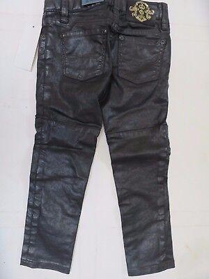 Girls trousers black leather look skinny DESIGNER 6 7 8 910 11 years NEW RRP £55 4