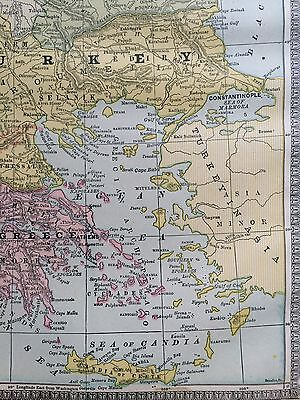 Italy turkey greece rare vintage original 1885 antique crams world 11 of 12 italy turkey greece rare vintage original 1885 antique crams world atlas maps gumiabroncs Gallery