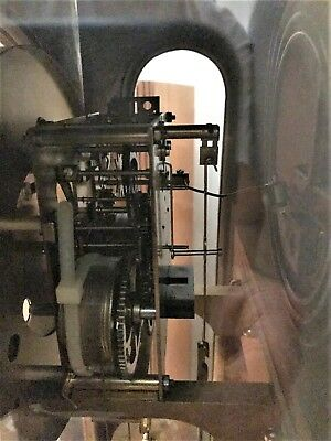 Duel Weight driven German KieningerClockMovement in DarkOak case 5