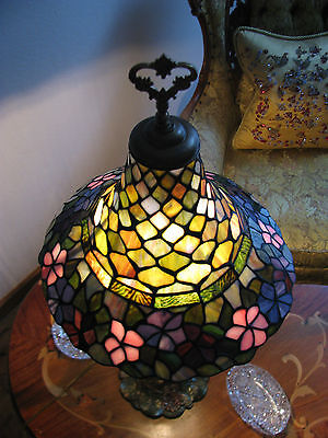 Vtg Deco Victorian Figurine Figural Table Lamp Chandelier Glass Shade Fixture 11