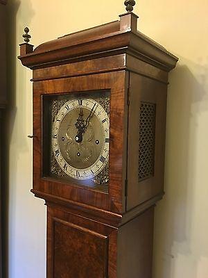 Elliott WESTMINSTER CHIME Burr Walnut Grandmother Miniature Grandfather Clock 6