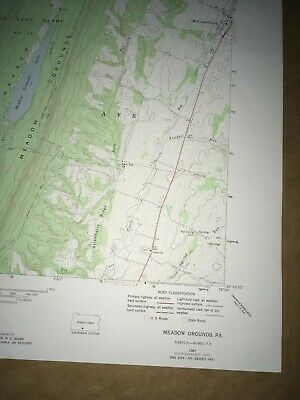 Meadow Grounds PA. Fulton USGS Topographical Geological Survey Quadrangle Map 5