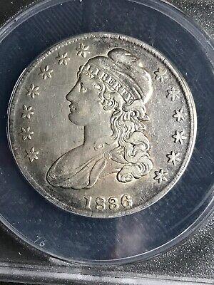 1836 O-105 R4 Capped Bust half dollar ANACS EF40 details 4