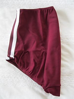 Ladies Gymphlex XL 100% Bri Nylon MAROON Gym Knickers/ Shorts (W30 - 38In) BNIB 5