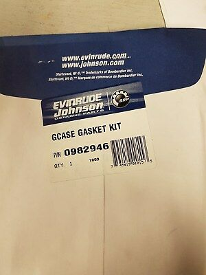 New Evinrude/ Johnson/ OMC Gearcase Seal Kit #982946