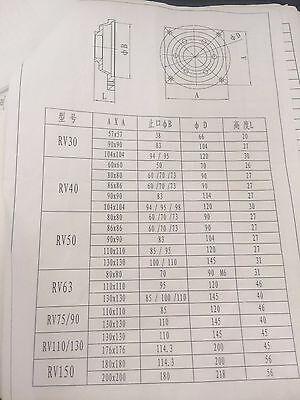 NEMA24-040 Worm Gear Reducer NEMA24 Ratio 30:1  50:1 100: 1   for Stepper Motor