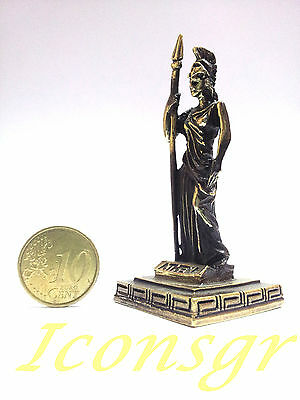 Ancient Greek Miniature Olympian God Pantheon Sculpture Statue Zamac Athena G