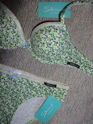 Skiny BH&Slip-Set*Gr:65A-152*95% Baumwolle*Spring blossom*NP:33,98€* 2