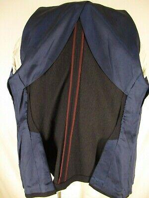 J Crew Ludlow Mens Navy Stripe 2 Btn Italian Flannel Sport Coat 44R 4