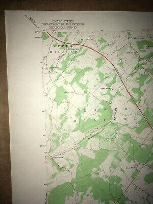 Milford Square PA Bucks Co USGS Topographical Geological Survey Quadrangle Map 2