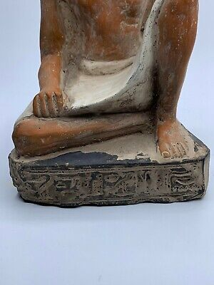 ANCIENT EGYPT EGYPTIAN GOD ANTIQUES Statue Pharaoh Crved Stone BC 2
