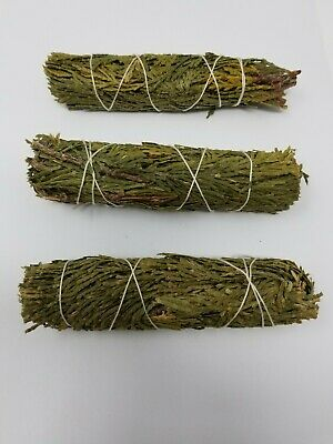 Cedar Sage Smudge: 3 Stick Value Pack (Herb, House Cleansing Negativity Removal 4