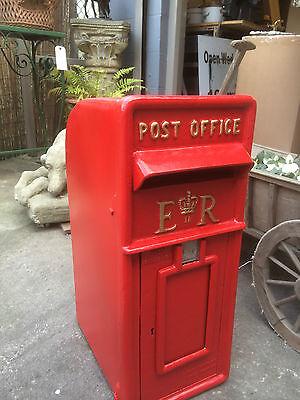 ER Royal Mail Post Box  ERII pillar box Red cast iron post box post office box 5