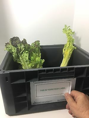 """Food Growers Label Placard Holders 4.5""""X6.5"""" for  Bins/Containers Intelli-Plac 4"""