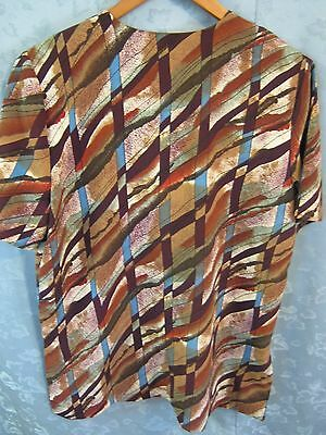 bf70ce3e ... Vintage VTG 80's Christie & Jill Blouse Size Medium Oversized Shirt  Tunic Top 5