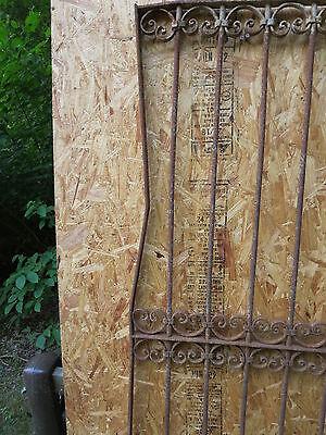 Antique Victorian Iron Gate Window Garden Fence Architectural Salvage Door U 4