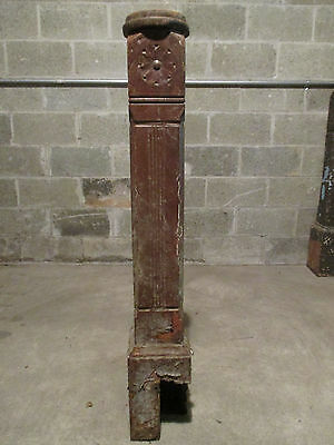 ~ Antique Carved Walnut Newel Post 45 Tall ~ Architectural Salvage ~ 6